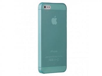 Ozaki O!coat 0.3 JELLY for iPhone 5.  Cyan