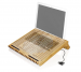 Macally Bamboo stand w.XL fan for notebook